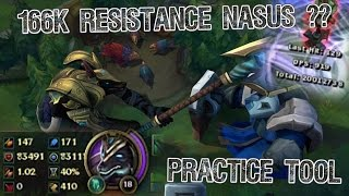 Practice Tool: 166K RESISTS NASUS? TRUNDLE STEALS 33K ARMOR (20M DMG ON DUMMY!!) 7 Hours Game