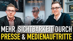 Mehr Sichtbarkeit durch Presse & Medienauftritte (Interview mit Ruben Schäfer)
