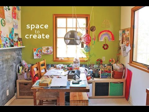 Space to Create: A Home Art Studio for Kids - YouTube