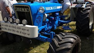 Modified Ford 3600 tractor 60 HP with original Paint, Big tyres and alloy Wheels