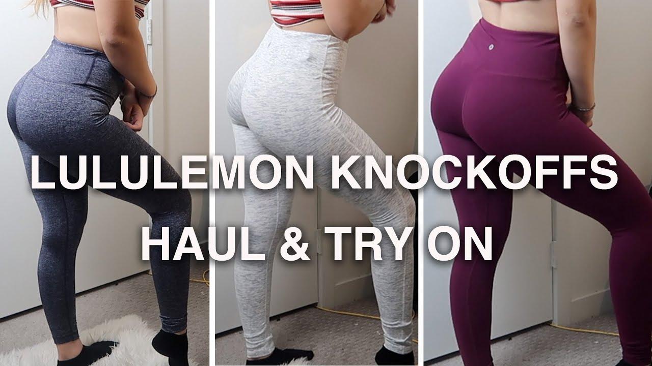 993b27f0b15596 CHEAP Amazon Leggings | $20 Lululemon Knockoffs HAUL & TRY ON - YouTube