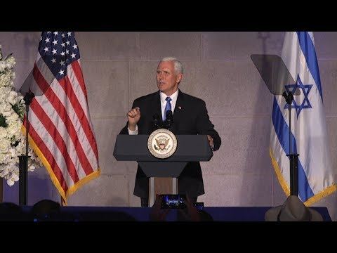 Vice President Mike Pence Speaks at Israel's 70th Independence Day Celebration