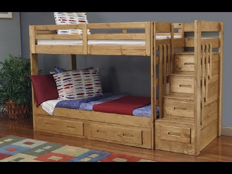 Bunk bed plans with stairs Step by Step Loft Bed Plans ...