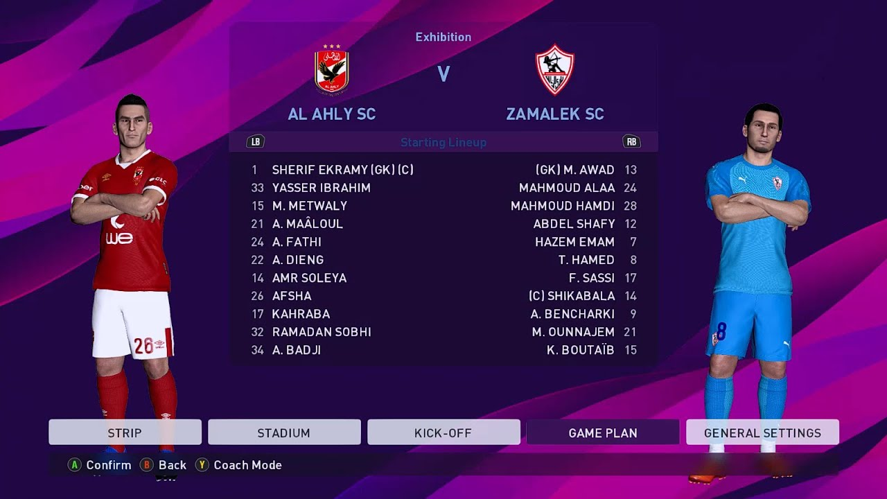 AL Ahly vs Zamalek SC | Egyptian Premier League | eFootball PES 2020 Gameplay