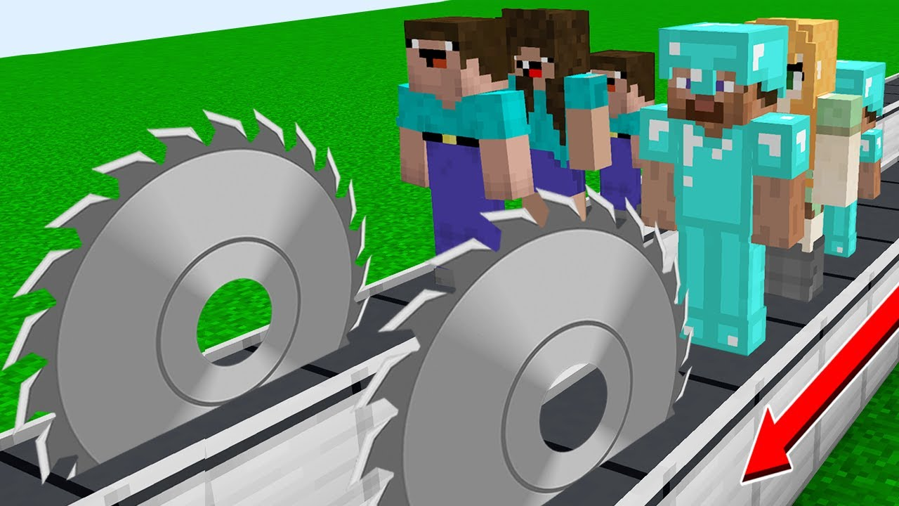 HOW to SAVE NOOB and PRO FAMILY in MINECRAFT! Sawed Noob Family vs Pro Family