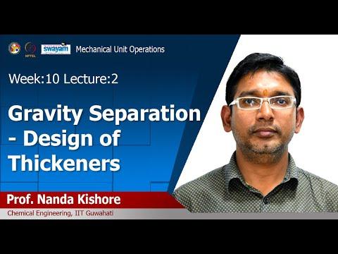 Lec 32: Gravity Sedimentation - Design Of Thickeners