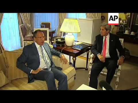 US Sec of State Kerry discusses Syria with Russia Foreign Minister Lavrov