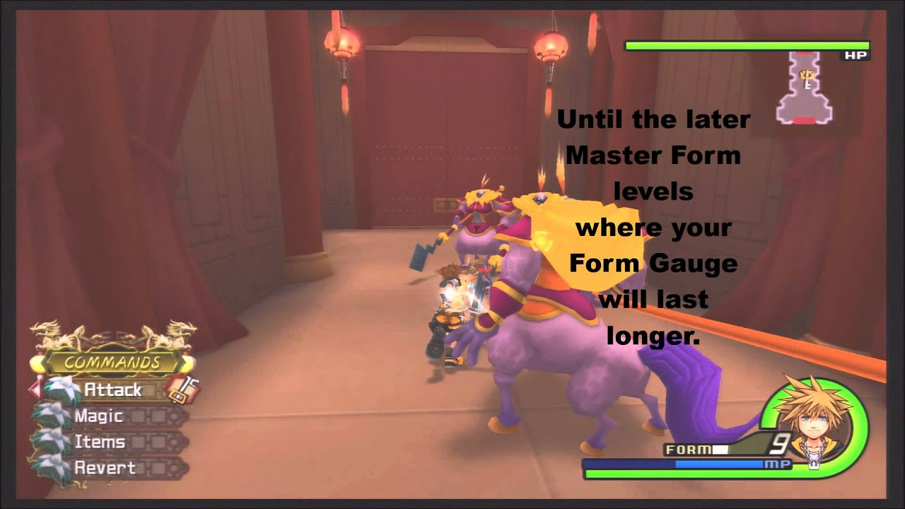 Kingdom Hearts 2 5 Remix Master Form Leveling Up Guide - YouTube