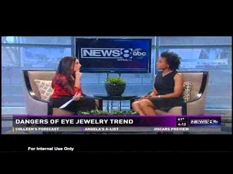 The latest trend in jewelry can have harmful effects on your eyes