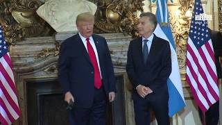 President Trump Participates in a Photo Opportunity with the President of the Argentine Republic