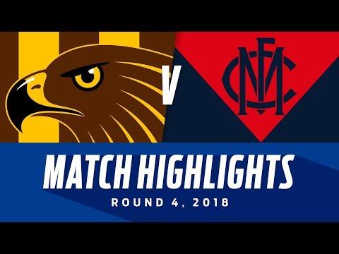Match Highlights: Hawthorn v Melbourne | Round 4, 2018 | AFL
