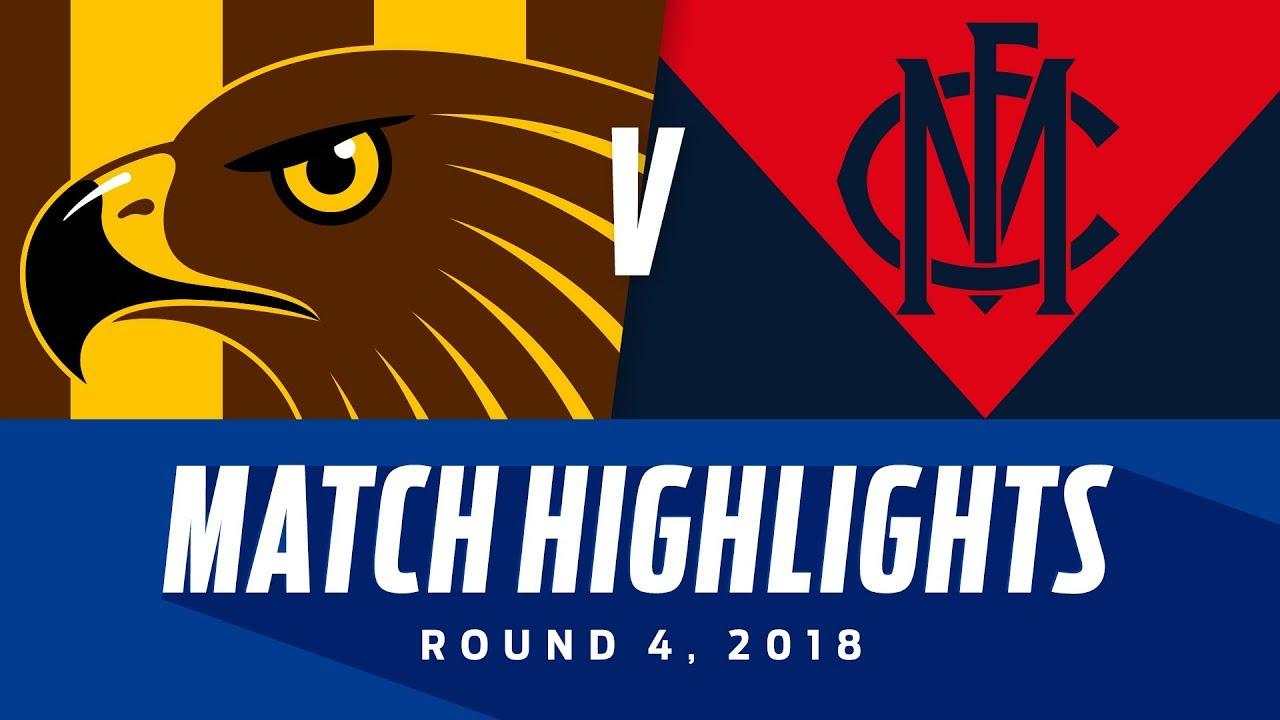 Match Highlights Hawthorn V Melbourne Round   Afl