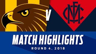 Match Highlights: Hawthorn v Melbourne | Round 4, 2018 | AFL