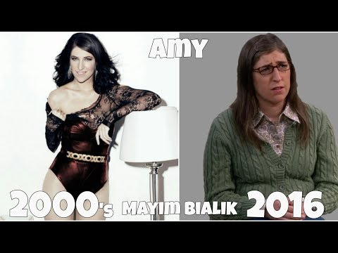 The Big Bang Theory TV  actors, Before and After they were famous