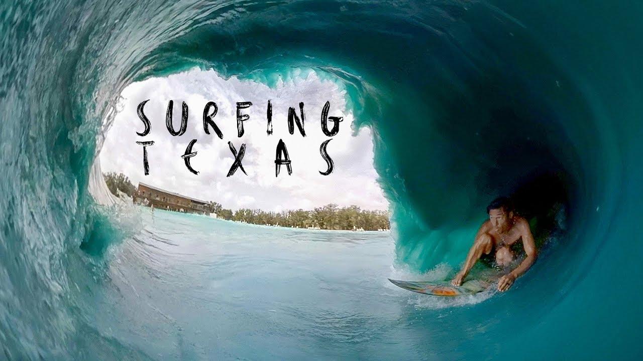 Surfeando Texas con Jamie O'Brien, Kalani Robb, y Mason Ho