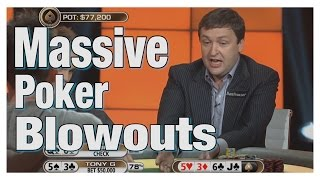 Most Ridiculous Poker Blow Outs At The Pro Poker Tournaments