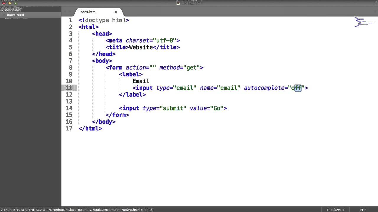 Turning Off HTML Form Autocompleting - YouTube