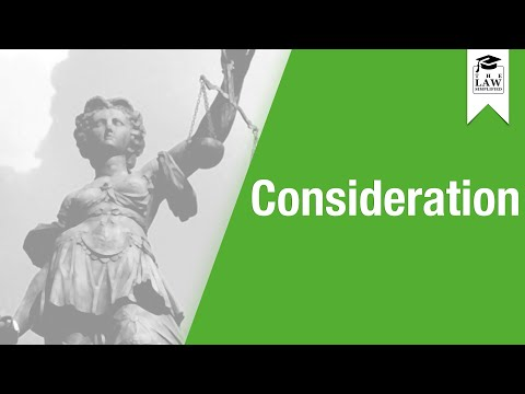 Contract Law - Consideration