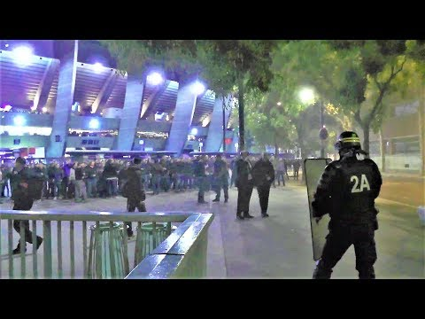 Incidents après le match PSG-Belgrade au Parc des Princes - Paris - 3 octobre 2018