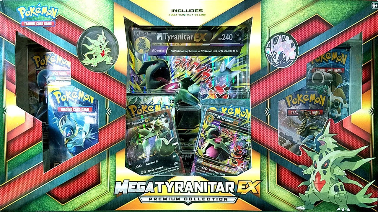 ABSOLUTELY AMAZING MEGA TYRANITAR EX PREMIUM COLLECTION ...