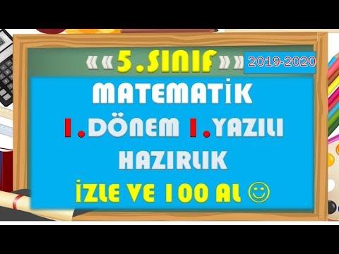 5.Sınıf Matematik 1.Dönem 1.Yazılı Hazırlık 1-Yardımcı Öğretmen