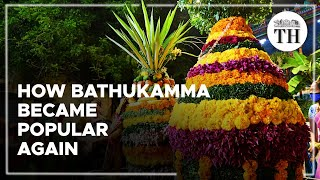 How did Bathukamma festival regain its popularity?