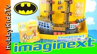 Imaginext SKELETON Pirate Ship Toy Review with HobbyKids