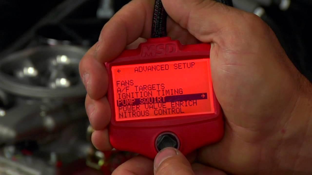 MSD Ignition Atomic EFI Handheld Controller & Engine