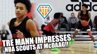 Tre Mann IMPRESSES NBA SCOUTS at McDonald's All-American Week!! | ELITE PG with UNLIMITED RANGE