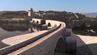 Pont d'Avignon, film reconstitution numérique en 3D