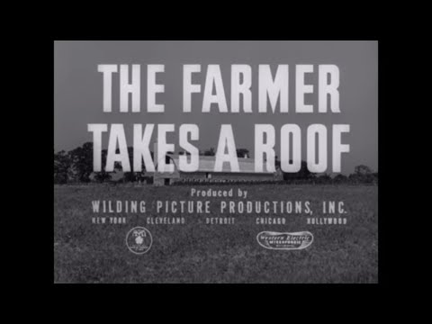 ALCOA ALUMINUM 1950s BARN, SHED & ROOF PROMOTIONAL  WISCONSIN FARMING FILM 48054