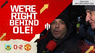 WE'RE RIGHT BEHIND OLE! Burnley 0-2 Manchester United Fancam