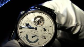 Glashütte Original Grande Cosmopolite Tourbillon Watch Explained(This is the limited edition Glashutte Original Grande Cosmopolite Tourbillon - the most complicated German watch ever made. It features a 37 time zone world ..., 2012-10-17T08:54:22.000Z)
