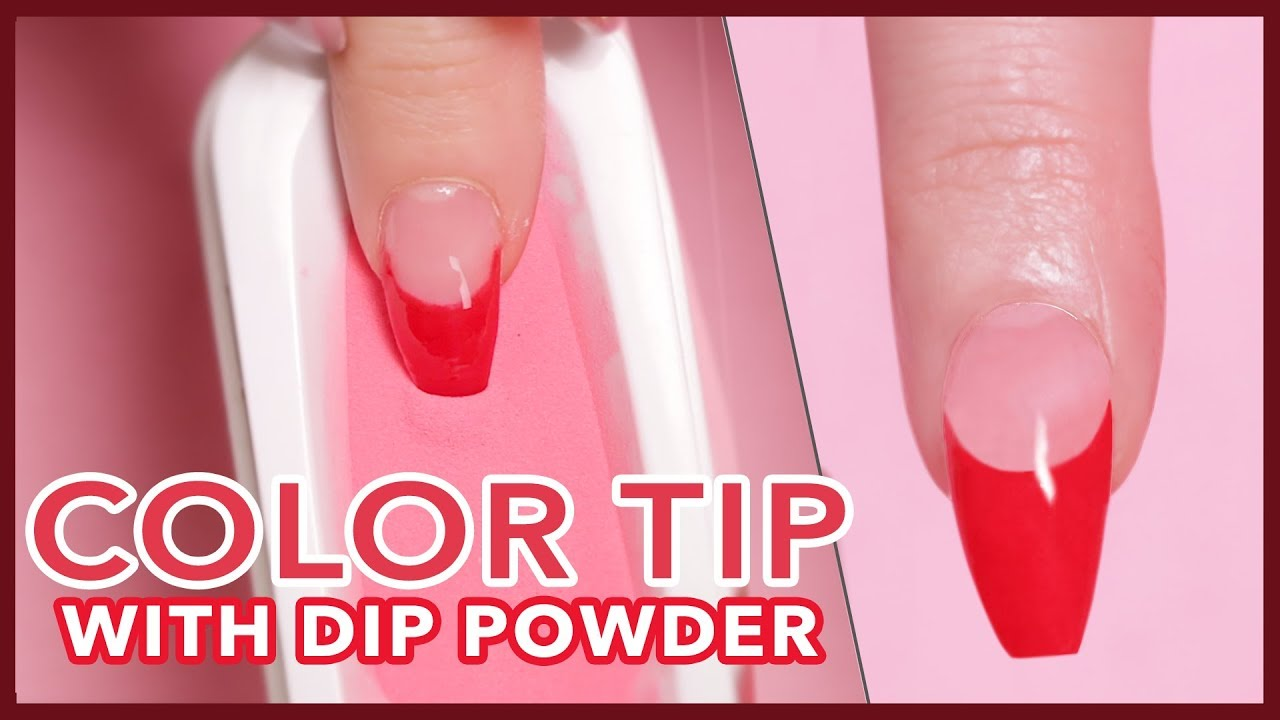 How To Color French Tip Using Dip Powder Youtube