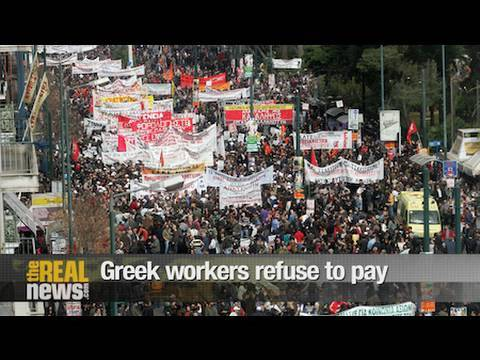 Greek workers refuse to pay for crisis