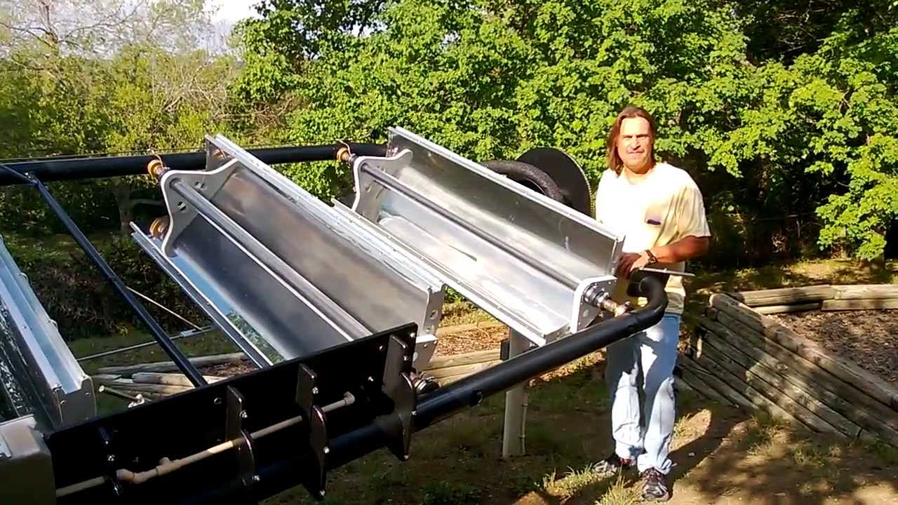 Parabolic Trough Solar Collector Water Heater 6 Youtube