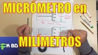 Medición con micrómetro en milímetros