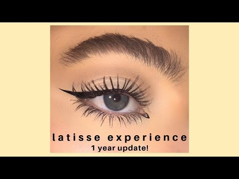 HOW I GOT HUGE EYELASHES AND EYEBROWS *latisse Experience 1 Year Update*
