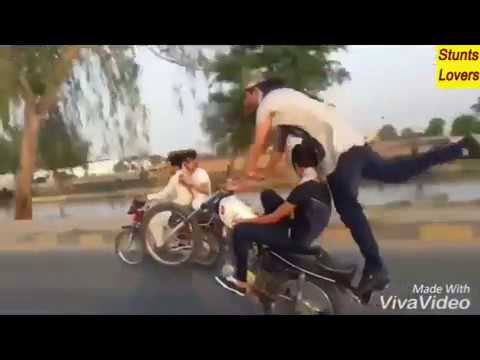 bike wheeling with hot girl karachi pakistan