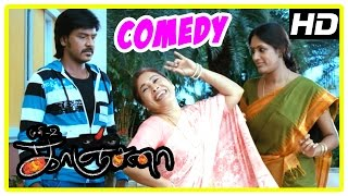 Kanchana | Tamil Movie Comedy | Part 1 | Raghava Lawrence | Kovai Sarala | Devadarshini | Muni 2