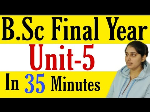 B.Sc Final Year |ORGANIC UNIT-V | In 35 Minutes| Poonam Mem