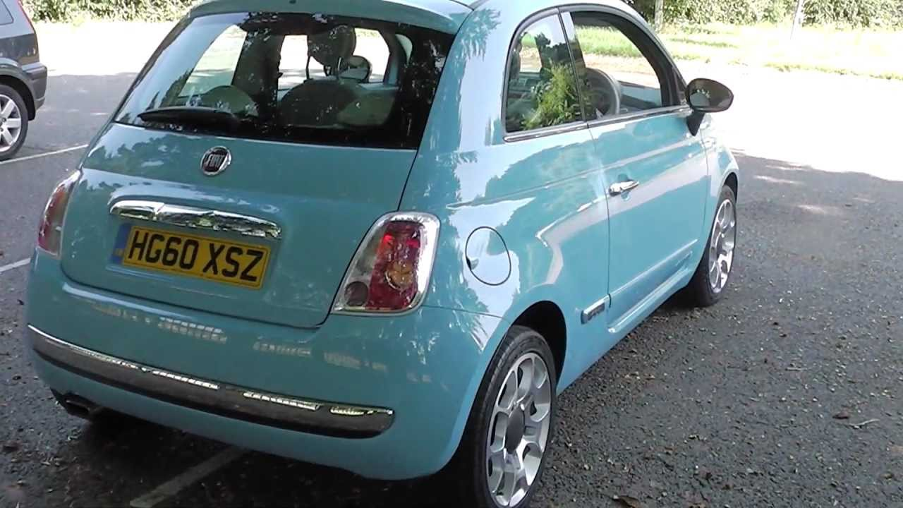 fiat 500 lounge twinair volare blue promotors co uk youtube. Black Bedroom Furniture Sets. Home Design Ideas