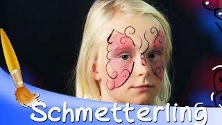 Repeat youtube video Kinderschminken Schmetterling Gesicht Tutorial || HD