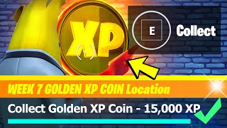 Golden XP Coin LOCATION & All Week 7 XP Coins - Fortnite Season 4 Week 7