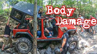 Wheeling The Hardest Trail At Rausch Creek! My Jeep Gets Some Body Damage