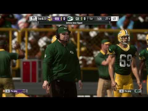 Madden 19 Week 2 Vikings VS Packers