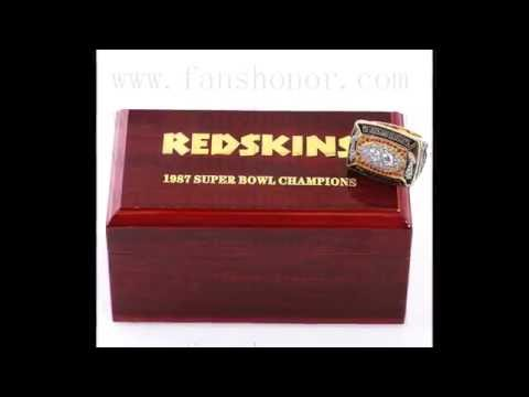 Custom NFL 1987 Super Bowl XXII Washington Redskins Championship Ring