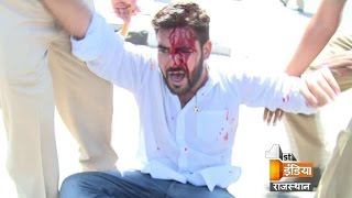 Police lathi charged on the students protesting in Rajasthan University |  30 September 2015