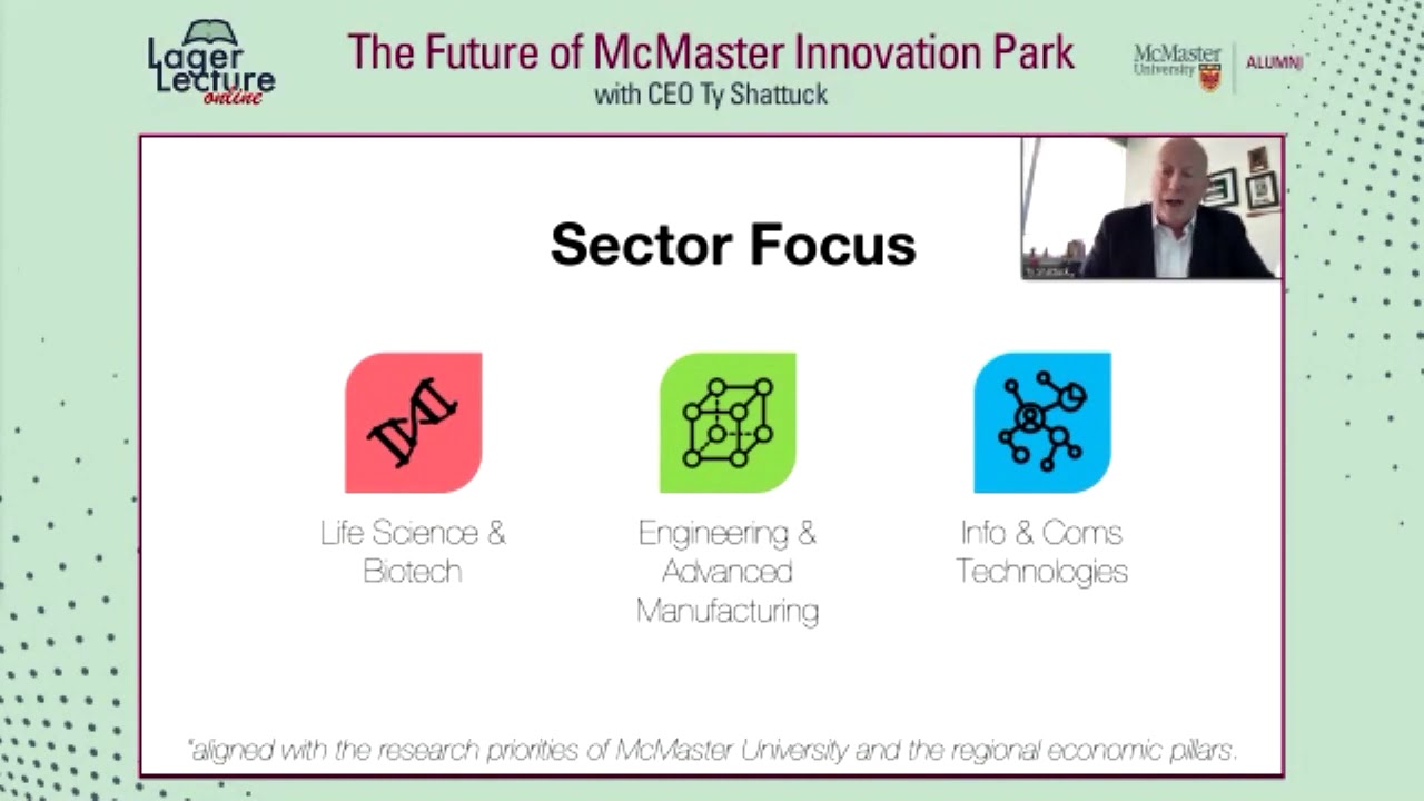 Image for Lager Online: The Future of McMaster Innovation Park with CEO Ty Shattuck webinar