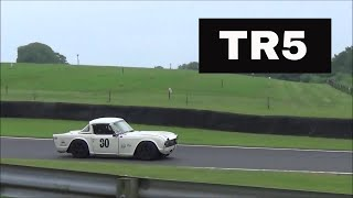 Triumph TR5 on Track - Engine Exhaust Sound